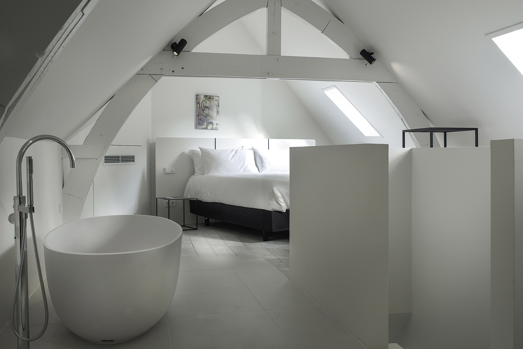 Kazerne Corner Duplex Bed and Bathroom Image Patrick Meis