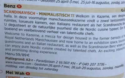 Kazerne in Michelin Guide