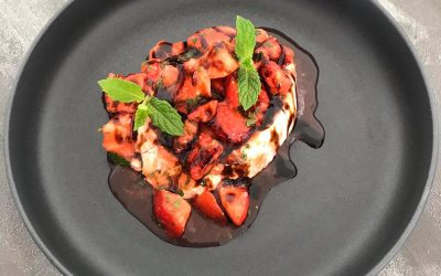 Marinated Strawberries and Mascarpone